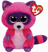 TY Roxie - Pink/Purple Raccoon