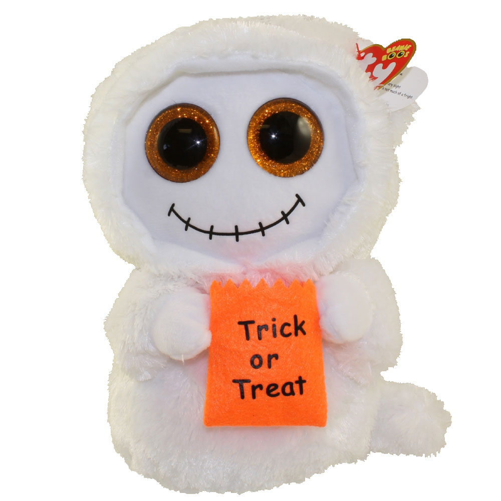 TY Beanie Boos - Mist the White Ghost (Medium)