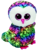 TY Beanie Boos - Owen the Multicolored Owl (Medium)