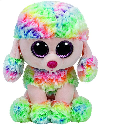 TY Beanie Boos - Rainbow the Multicolor Poodle (Medium)