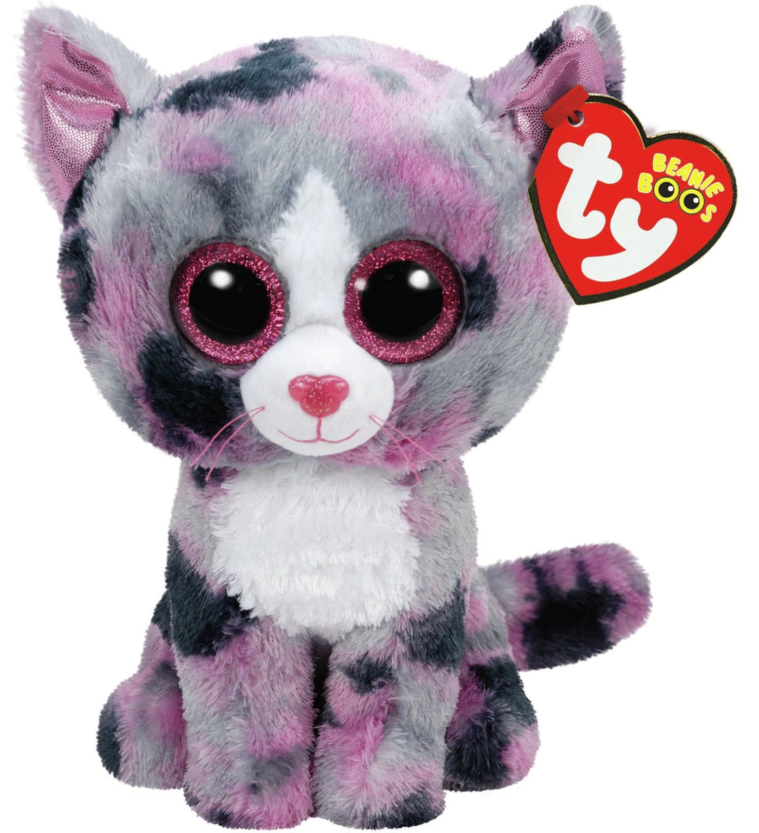 TY Beanie Boos - Lindi The Pink Cat (Small)