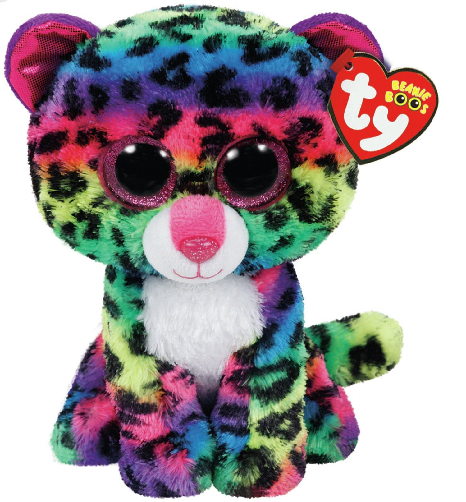 TY Beanie Boos - Dotty the Multicolor Leopard (Small)