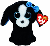 TY Beanie Boos - Tracey the Black and White Dog (Small)