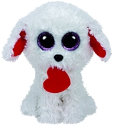 TY Beanie Boos - Honey Bun the White Dog with Heart (Small)
