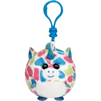 Fable Beanie Clip (white unicorn with pastel polka dots)