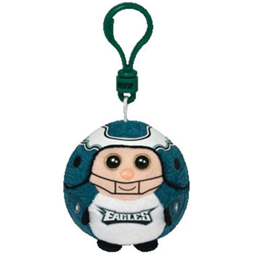 Ty Beanie Sports Ballz Clip - Philadelphia Eagles