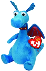 TY Stuffy blue dragon