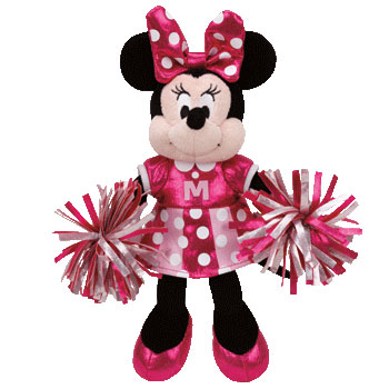 Ty Disney Sparkle Minnie Cheerleader