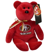 San Francisco 49ers Beanie Bear