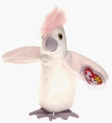 Ty Beanie Babies - Kuku the White Cockatiel