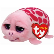 TY Teeny Tys - Shuffler the Pink Turtle