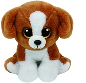 TY Beanies - Snicky the Brown/White Dog (Small)