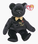 Ty Beanie Babies - The End Black Teddy Bear