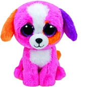 TY Beenie Boos Precious Mutli color Dog (Medium)