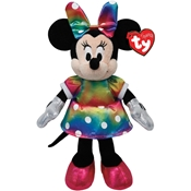 Ty Beanie Buddies Minnie Ty Dye Sparkle Medium Plush