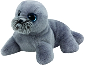 TY Classic - Wiggy the Grey Sea Lion (Medium)