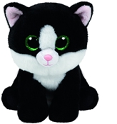 TY Classic - Ava the Black and White Cat (Medium)