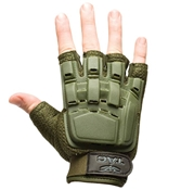 V-TAC Half Finger Plastic Back Gloves, Olive XL/2XL
