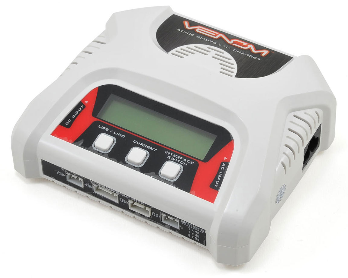 Venom 2-4 Cell AC/DC LiPo Balance Charger