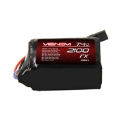 Venom 2100mAh 7.4V Double Cell 2S 5C Rx  LiPo Hump Pack