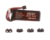 Venom 1300mAh 11.1V 3S Triple Cell 20C LiPo Pack - Universal Connector