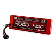 Venom Sport Power 4000mAh 7.4V 2S 40C LiPo Pack - Universal Connector