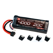 Venom 4000mAh 2S 7.4V 20C LiPo Hard Case Stick Pack - Universal Connector
