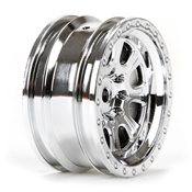 Wheel FR/RR Ascender 8 Spoke 1.9 Set Chrome (4)