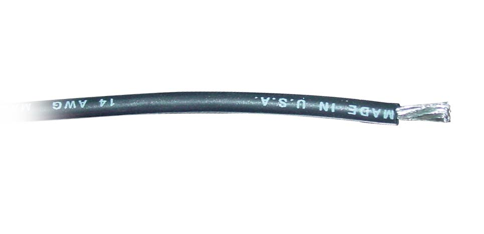 14 Gauge Silicone Wire - Black