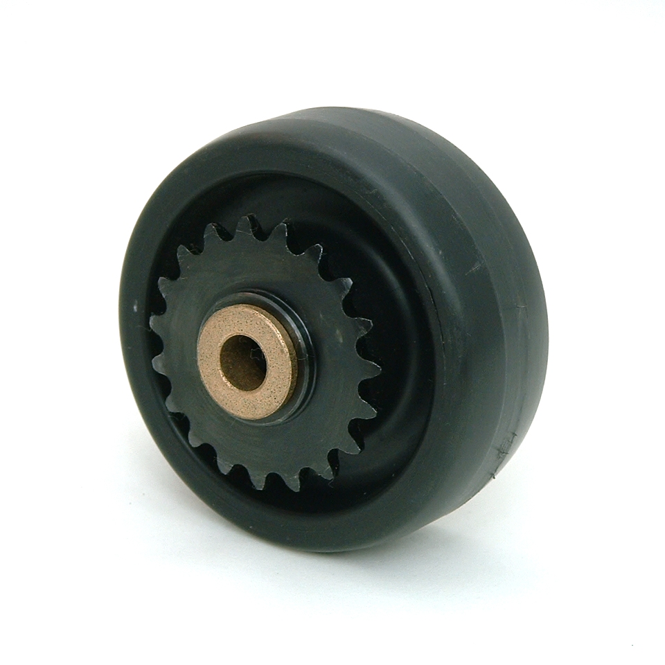 4 Inch BattleKit Hard Plastic Robot Wheel - 19-Tooth Sprocket