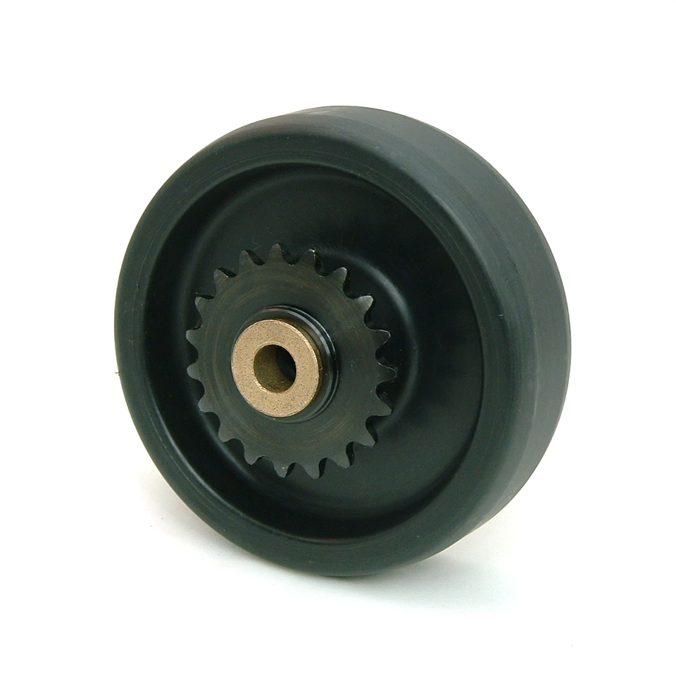 5 Inch BattleKit Hard Plastic Robot Wheel - 19-Tooth Sprocket