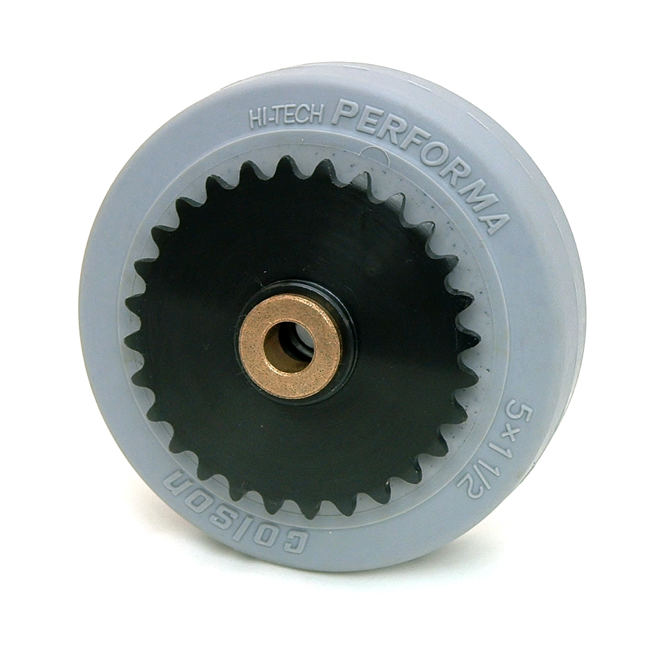 5 Inch BattleKit Robot Wheel - 28-Tooth Sprocket