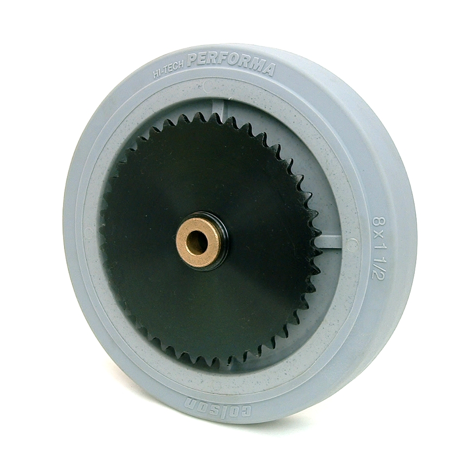 8 Inch BattleKit Robot Wheel - 42-Tooth Sprocket