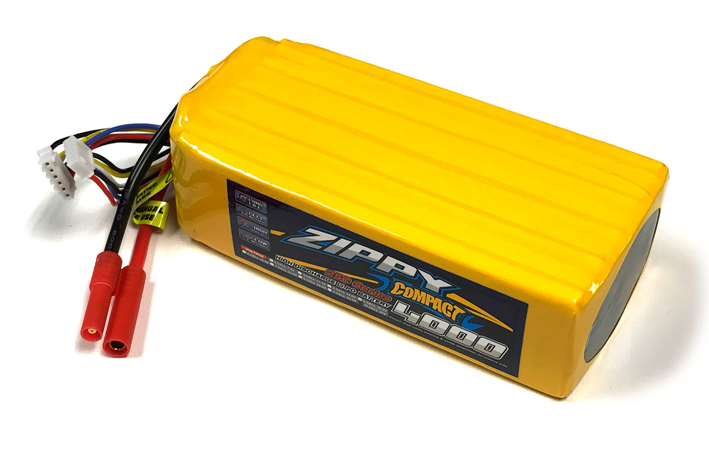 Zippy Compact 4000mAh 10S 25C LiPo Battery - 4mm Connectors