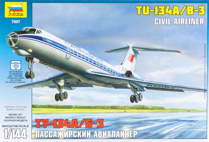 1/144 Tupolev Tu-134 A/B-3 Russian Airliner, NT