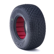 AKA 1:10 City Block Short Course Tires with Red Insert - Soft Compound - 1 Pair