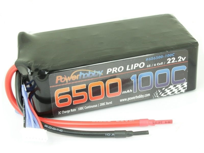 PowerHobby 6500mAh 22.2V 6S 100C LiPo Battery