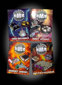 Set of all 4 Metal Munching Maniacs DVDs