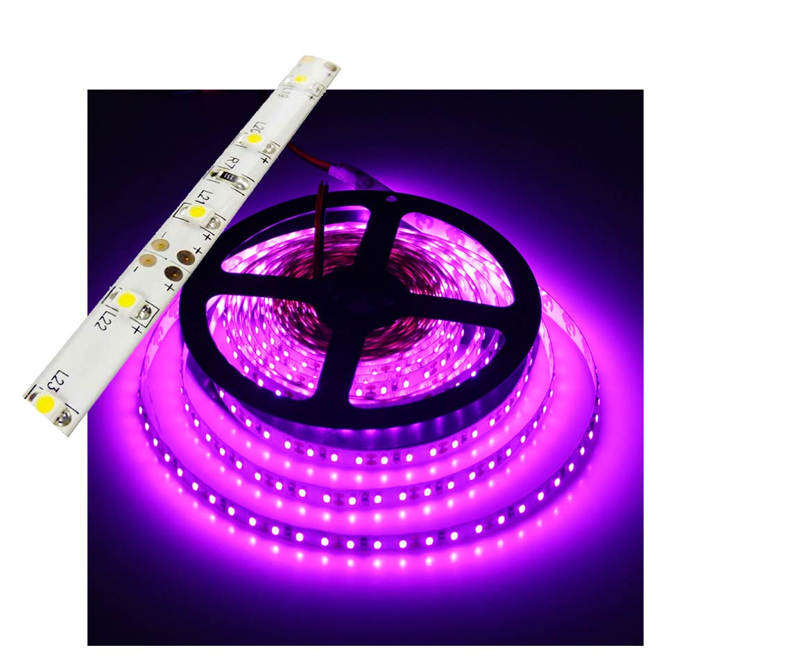Self-Adhesive Waterproof 2 inch 3 Lights LED Light Strip - Pink