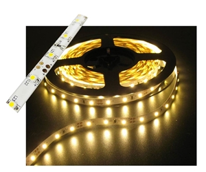 Self-Adhesive Waterproof 2 inch 3 Lights LED Light Strip - Warm White