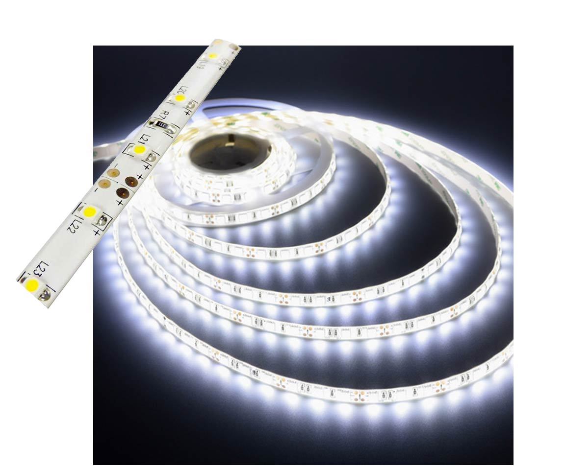 Self-Adhesive Waterproof 2 inch 3 Lights LED Light Strip - White