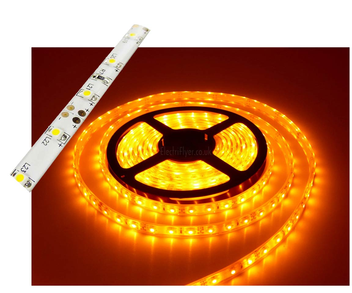 Self-Adhesive Waterproof 2 inch 3 Lights LED Light Strip - Yellow