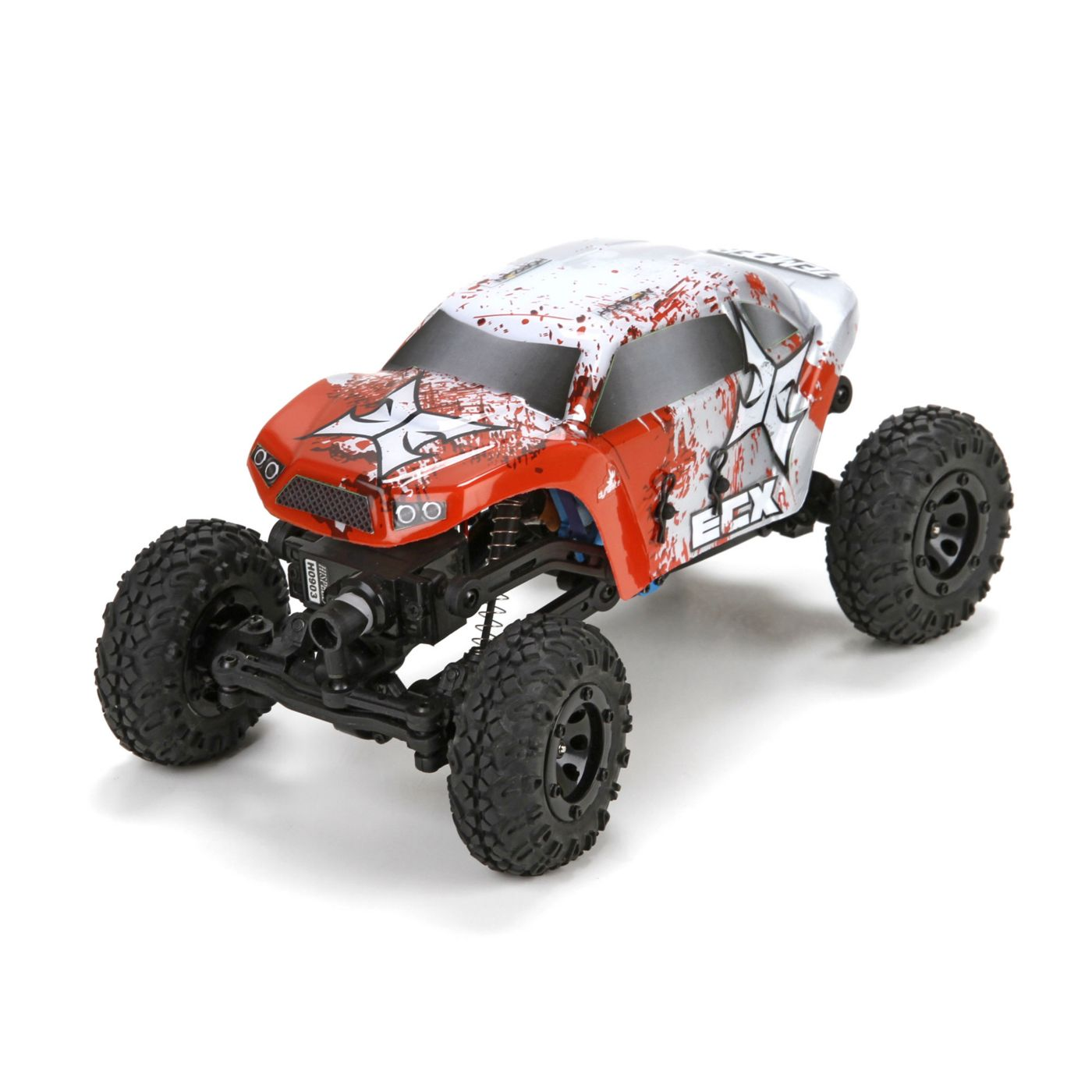 Temper 1:24 Rock Crawler: Red/White RTR