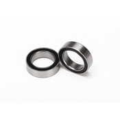 Ball Bearings, Black Rubber Sealed,10x15x4mm(2)