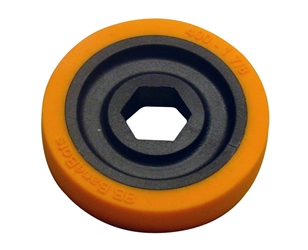BaneBots T40  Wheel, 1-7/8 x 0.4in., 1/2in. Hex Mount, 40A, Orange