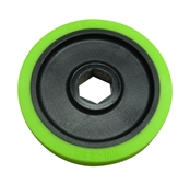 BaneBots T40  Wheel, 2-3/8 x 0.4in., 1/2in. Hex Mount, 30A Green