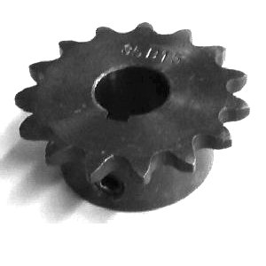 3/8 pitch Type B Sprocket - 15 teeth, 3/4 inch bore