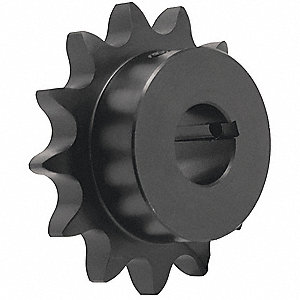 1/2 pitch Type B Sprocket - 17 teeth, 1 inch bore