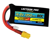 Lectron Pro 14.8V 1350mAh 80C Lipo Battery w/ XT60 Connector for FPV Racers