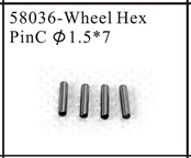 Wheel hex pin C 1.5x7 for 1:18 1/18 Model Car Buggy Monster Truck Short Course Truck